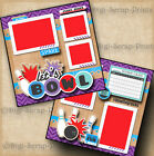 LETS BOWL 2 premade scrapbook pages paper piecing layout DIGISCRAP A0108