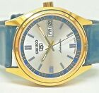 seiko 5 automatic men's gold plated SILVAR dial vintage japan made watch ORDER55