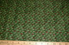 DEBBIE MUMM Fabric Green Leaves with Red Berries BTHY