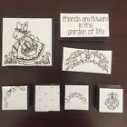 Friends are Flowers stamp set of 7 Stampin Up Foam mounted Bunny rabbit