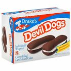 Drake's Devil Dogs Snack Cakes  Creme Filled  Individual Wrapped FRESH