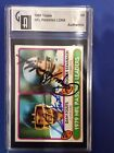 Roger Staubach Dan Fouts Auto Autograph 1980 Topps Passing Leaders #331 Card