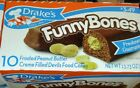 Drake's Funny Bones Snack Cakes Peanut Butter Filled  Individual Wrapped FRESH