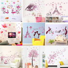 Pink Love Art Cartoon Kids Girl Room Decor Wall Sticker Removable Vinyl Decal