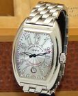 FRANCK MULLER STAINLESS STEEL MENS CONQUISTADOR AUTOMATIC WATCH 8005 SC BOX/PP