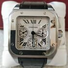 CARTIER Santos 100 XL 2740 Chronograph Mens Stainless Steel Automatic Watch 42MM