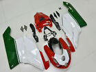 21 Dark Green White Red ABS Injection Fairing Kit for Ducati 749 999 2003 2004