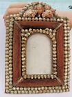 Antique Victorian Folk Art Shell Seashell Photo Frame c.1910  Bought in Germany
