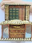 Victorian shell Folk Art Sailors Valentine SeaShell Art Bookcase Box