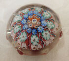 LOVELY VINTAGE UNKNOWN SCOTTISH SCOTLAND STRATHEARN  SMALL GLASS PAPERWEIGHT