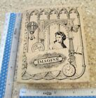 PSX K 3564 MW RUBBER STAMP IMAGINE COLLAGE LADY BUTTERFLY