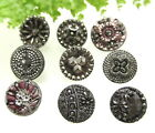 SPARKLING LOT OF VICTORIAN SILVER LUSTER GLASS BUTTONS N104