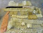 Lot Antique Victorian Vintage Lace Edging Trim Crochet Sewing Dolls Craft