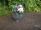 Antique Cast Iron Planter Footed Floral Basket Design 12