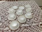 Oven Fire King Teacup and Saucer's with Gold Trim Set of  7 plus 3 extra saucers