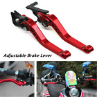 GY6 CNC Motorcycle Brake Lever Adjustable CNC Disc/Drum Hand Red 2pieces/1pair
