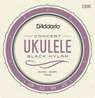 DAddario EJ53C Pro Art Rectified Concert Ukulele Strings Black Nylon Hawaiian