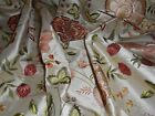 Vintage pure silk embroidered fabric