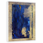 Two Palms Art Bazaar Blue Ghost by Antoni Designs Painting Print on Plaque