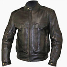 'Bandit' Men's Retro Brown Advanced Level-3 Distressed Buffalo Leather Motorcycl