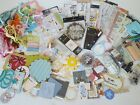 HUGE lot of Assorted Scrapbooking Supplies Stickers stamps ribbon chipboard