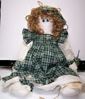 Hand Made Raggedy Ann Doll With Artist's Tag Beautiful Large 24 inch Size