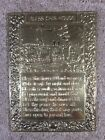 Vintage - Hammered Metal - BLESS THIS HOUSE - Decorative Wall Plaque on board