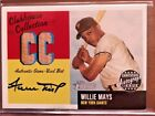 2002 WILLIE MAYS TOPPS HERITAGE CLUBHOUSE COLLECTION BAT AUTO #12 25 L@@K