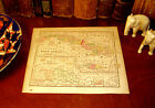 Original Pre-Civil War 1857 Hand-Colored Map WEST INDIES Havana CUBA Caribbean