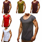 Sumnmer Mens Casual Shorty SLeeve Shirt Crew Neck Plain Muscle Tee Top T-shrts
