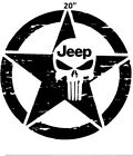 20 Jeep Wrangler Freedom Edition Star Punisher Hood Decal Sticker 4x4 Off Road