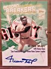 2003 WILLIE MAYS TOPPS RECORD BREAKERS AUTOGRAPH SSP L@@K!
