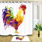 """Watercolor Farm Animal Rooster Shower Curtain for Bathroom Polyester Fabric 71"""""""