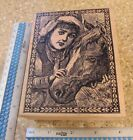 GIRL AND HER HORSE MW RUBBER STAMP MAGENTA