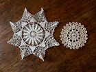 #385  Lot of 2 V intage Crocheted Doilies  Stunning Star Pattern