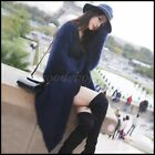 Chic Womens Winter Mohair Cardigan Coat Long Thicken Faux Mink Fur Sweatr Jacket