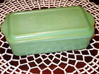 Jadeite Anchor Hocking Fire King Refrigerator Dish with Lid - Philbe Pattern