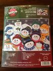 Snowman Counted Cross Stitch Kit Family Reunion NEW by Jaclyn