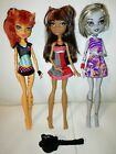 Moster high dolls lot of 3 moster