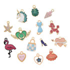 5 10 Pcs Enamel Charms Pendant Lot For DIY Necklace Earrings Jewelry Marking