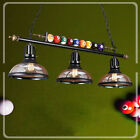 Game Room Metal Billiard Light with Balls Pool Table Lamp with 3 Glass Shades