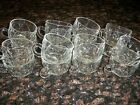 16 Clear Glass Punch Cups Excellent Condition