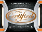 2018 Panini Certified Football Factory Sealed Hobby Box 4 Autos or Memorablilia