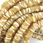 Natural Mother Of Pearl MOP Heishi Beads Gemstone 155 Strand 3x4mm 2x6mm 2x8mm