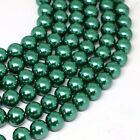Peacock Green 4-12mm South Sea Shell Pearl Round Loose Beads 15