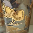 Mid Century Gold Gilt Oak Leaf and Acorn Glass 8 oz Tumblers Lot 3 Vintage