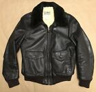Vintage LL Bean Mens Flight Bomber Motorcycle Shearling Leather Jacket 42