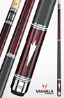 EURO RED VA902 PRO TAPER VALHALLA VIKING BILLIARD POOL CUE STICK W LEATHER WRAP