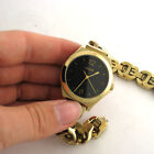 DKNY NY2425 Gold Tone Stainless Steel Link Band Watch For Parts Not Working