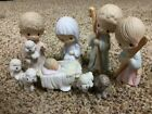 Precious Moments 9 Piece Nativity Set Come Let Us Adore Him E 2800 1979